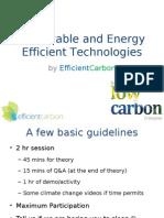 Renewable and Energy Efficient Technologies