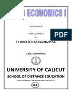 Micro Economics Calicut University