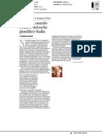 Addio a Losurdo, criticò Nitesche, giustificò Stalin - Il Corriere della Sera del 30 giugno 2018