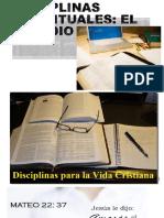 DISCIPLINAS ESPIRITUALES - ESTUDIO