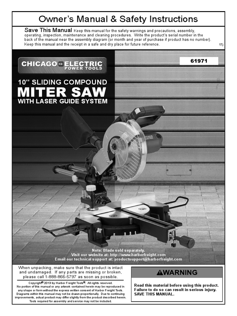 10in Sliding Compound Miter Saw 61971