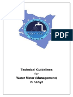 Water Services Providers Association Waspa Technical Guideline for Water Meter Management Kenya June 2015