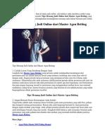 Tips Menang Judi Online Dari Master Agen Betting