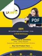 C7010-010 Exam Questions - Get Real C7010-010 Dumps Questions Guarantee Success