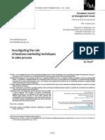 Adamashvili, Fiore - Investigating the Role of Business Marketing Techniques in Sales Process