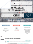 Etude Francais Vacances Csa Franfinance
