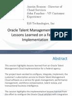 EiS Technologies_Talent Management Cloud Lessons Learned