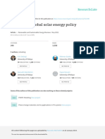A Review on Global Solar Energy Policy