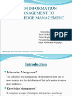 FROM INFORMATION TO KNOWLEDGE MANAGMENT