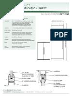 All Glass Doors Data Sheet