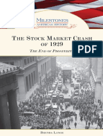 Brenda Lange - The Stock Market Crash of 1929 the End of Prosperity by Brenda Lange