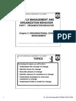 (2) Candidates Change Management