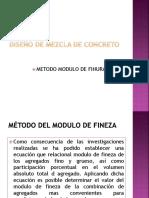 Diseño Modulo de Fineza (Finura)