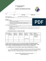 Principals Recommendation Form