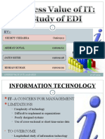 BUSINESS VALUE OF INFORMATION TECHNOLOGY
