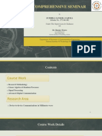 PhD comprehensive seminar