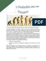 La evolución biológica de la especie humana es un hecho reconocido mayoritariamente.docx