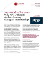 10 Years After Bucharest Why NATO Should Double-down on Georgian Membership