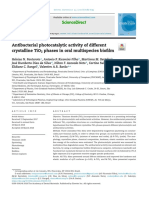 Antibacterial Photocatalytic Activitiy of Different Crystalline TiO2 Phases in Oral Multispecies Biofilm