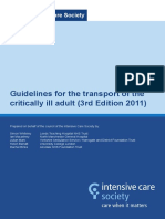 Transport of Critically Ill Adults 2011