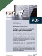 Business Collaboration. Verbesserte Zusammenarbeit in Wertschöpfungsnetzwerken (Detecon Executive Briefing)