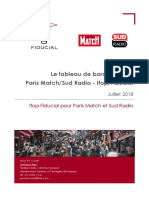 Tableau de bord politique Paris Match/Sud Radio - Ifop/Fiducial - Juillet 2018