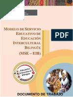 MODELO DE SERVICIO EDUCATIVO EIB