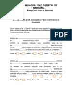 ACTA DE VERIFICACION DE COLINDANTES DE CONSTANCIA DE POSESION CONFORME A LA LEY 28687 Y SU REGLAMENTO.docx