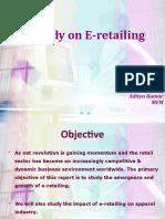 A Study on e Retailing