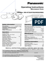 Panasonic Microwave Oven NN765XX Manual