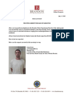 Brandon Multiple Drug Arrest Press Release