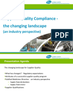 Supplier Quality the Changing Landscape