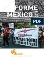 Informe México 2018 - Las Trabajadoras Sexuales Se Organizan Por El Cambio.