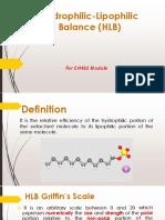Hydrophilic Lipophilic Balance