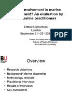 McKinley, Emma - LITTORAL 2010 - Public Involvement in marine management? An evaluation by UK marine practitioners