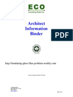 Architect Information Binder www.Ecoglass.ca Eco Insulating Glass Inc.