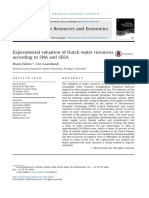 Experimental Valuation of Dutch Water Resources