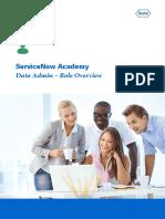 ServiceNow Academy Data Admin