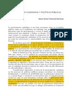 Participacion Ciudadana y Politicas Publ