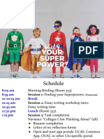 copy of 2017  g11 activity day - superpowers  underwear and cape day breakdown and guide
