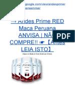 → Andes Prime RED Maca Peruana ANVISA | NÃO COMPRE!! ☛【Antes LEIA ISTO】