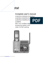 ATT CL82301 Phone Complete User Manual