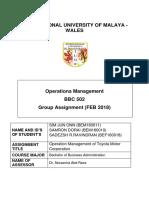 Operation Management  Part 1