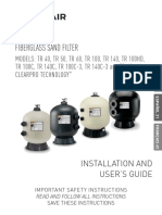 Triton Fiberglass Sand Filter Installation and Users Guide English French Spanish