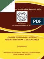 English Language Teaching Management (ELTM)