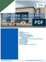 BOLETIN 206 DEL CONSEJO DE ESTADO