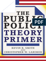 The Public Policy Theory Primer_Book