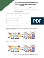 PRUEBA DE DIAGNOSTICO DE EDUCACION MATEMATICA PRIMERO BASICO.doc