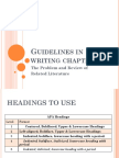 Guidelines in Writing Chapter 1