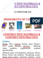 Construction material notes for tamilnadu goverment exam